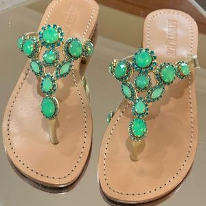 Mytique sandals with jewels. Like new.